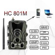 Suntekcam hc801m 2g caça trail câmera 20mp 1080p mms/smtp/sms wildlife câmera foto armadilhas visão noturna caçador chasse