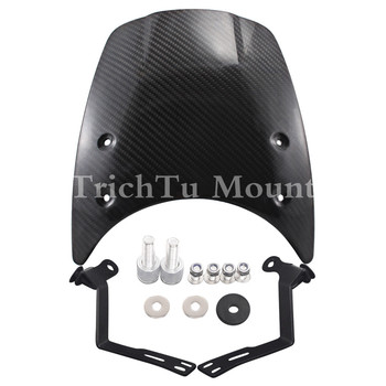 Detachable Compact Windshield Carbon Fiber Headlight Fairing Mask For BMW R Nine T 14-Up Motorcycles Accessories