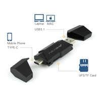 Acasis UFS Kartenleser USB 3.1 Typ C zu UFS Micro SD TF Adapter Speicher Karte Smart Reader für Mobile Macbook laptop Zubehör