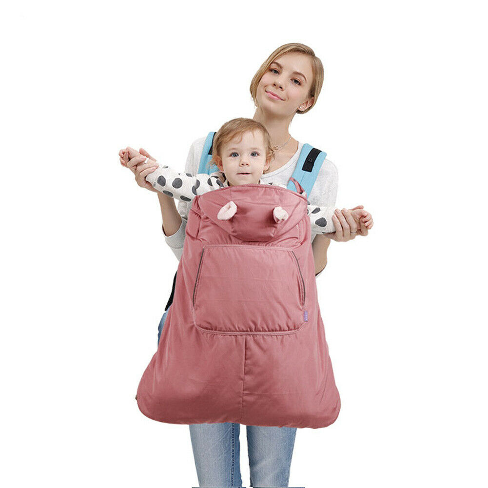 For Baby Outdoor Sun Rain Cover Backpack Wrap Suspender Cloak Carrier Windproof