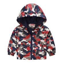 цена на Hot New  Kids Jacket girls Casual Outerwear Spring Autumn Long Sleeve Coats Boys Kids  Windbreaker Hooded Children Clothing 2-6T