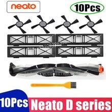 Genel combo fırça bıçak fırça ve kıl fırça çırpıcı Neato Botvac D3 D4 D5 D6 D7 bağlı elektrikli süpürgeler kiti parçaları