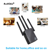 AC 1200Mbps Wireless 2.4G 5G Wifi Repeater Dual Band 4 High Antennas Bridge Signal Amplifier Wired Router wi fi Access Point