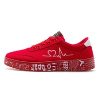 2021 Fashion Women Vulcanized Shoes Sneakers Ladies Lace-up Casual Shoes Breathable Canvas Lover Shoes Graffiti Flat 1