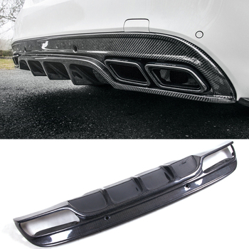 F-D Style Carbon fiber Diffuser Spoiler For BENZ W205 C63 4 Door