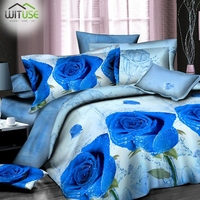 High Definition Soft Warm 3D Bedding Set Flower Scenic Print Duvet Cover Pillowcase Queen Size Set Bedroom Decor No Comforter