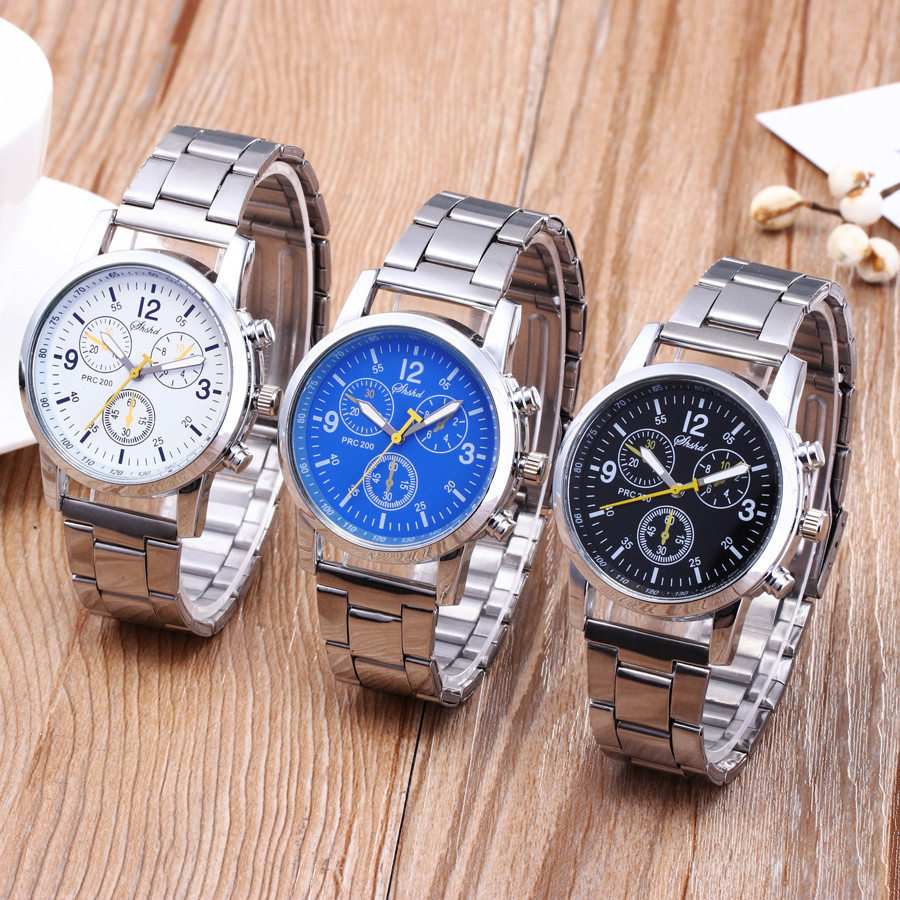 Fashion Men Quartz Watch Luxury Analog Mens Wristwatch Stainless Steel  Business Causal Watches Thanksgiving Gift