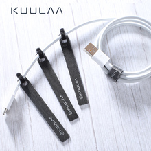 KUULAA Cable Organizer Wire Winder Cable Holder 14cm For Mouse Cord Earphone HDMI Aux USB Cable Management Wire Cable Protector ugreen cable organizer leather earphone cable winder for earphones usb cable management aux line clip wire holder organizer