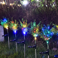 2pcs 15LED Solar Power Garden Light Christmas Lights Outdoor Grass Fireworks LED Lawn Lamp Outdoor Waterproof Solar Garden Light