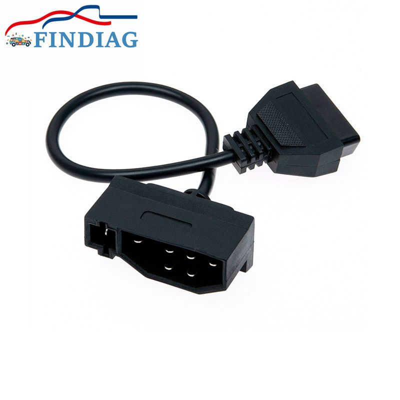 Para ford 7pin adaptador obd conector 7pin para soquete 16pin adaptador de cabo fêmea para ford convertendo conexão