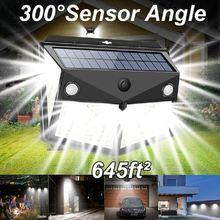 260led Солнечный настенный светильник s движения человека Сенсор