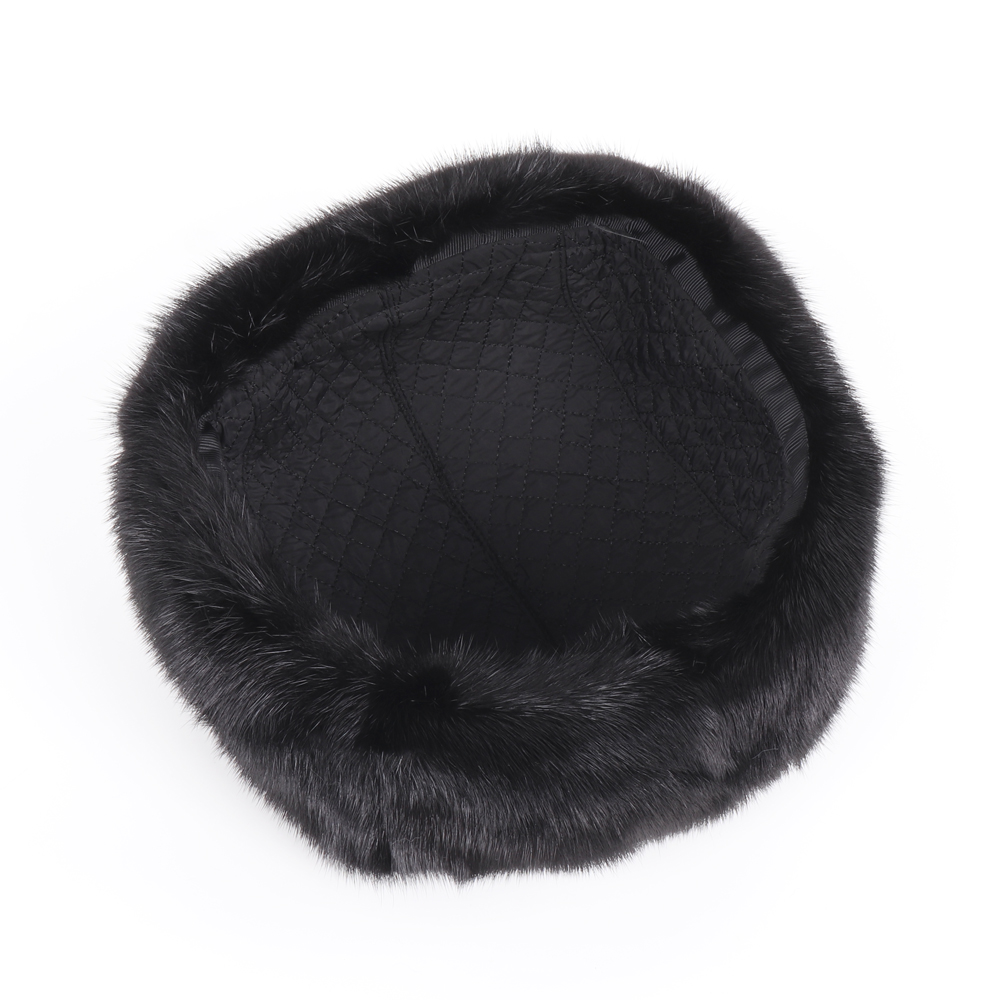 2019 New Winter Russian Men Real Mink Fur Bomber Hats Male Warm 100% Natural Mink Fur Hat Luxury Man Real Sheepskin Leather Cap 4