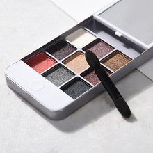 9 Colors Makeup Eyeshadow Palette Plastic Phone Case For iPhone 5 Slip Pearl Matte