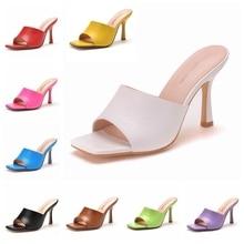 Sandalias de tacón alto para mujer, zapatos de tacón de 9cm de cristal, fetiche, zapatos de tacón de aguja para baile de graduación, zapatos de plataforma, Color caramelo