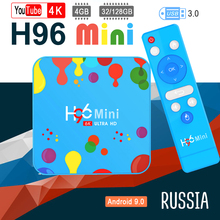 tv box h96 mini android tv iptv box Quad-core media player youtube 4K boxes europe android 9.0 WIFI 5G max boxes tv google цена в Москве и Питере