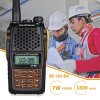 Powerful 7W Baofeng UV 6R Walkie Talkie UV6R Hunting Two Way CB Ham Radio UHF VHF Dual Band Handheld FM Transceiver Comunicador