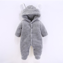 Newborn Baby Winter Hoodie Clothes Polyester Infant Baby Girls Pink Climbing New Spring Outwear Rompers 3m-12m Boy Jumpsuit стоимость