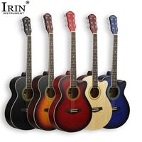 IRIN 40Inch Acoustic Guitar Basswood Body With Guitar Accessories Kit For Beginner For Student Ballad Guitar