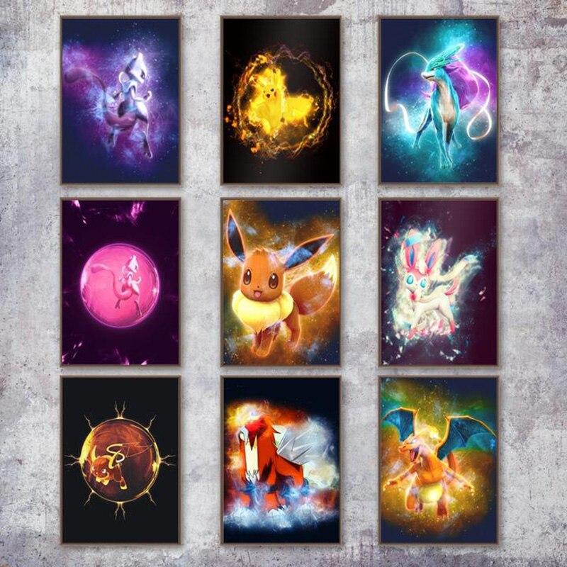 5D-DIY-Diamant-schilderij-Cartoon-Pikachu-pokemon-Volledige-Vierkante-Ronde-Diamant-Kruissteek-Borduren-Patroon-Strass-Home