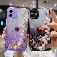 Perle Armband Telefon Fall Für Samsung Galaxy A52 A72 A32 A12 A21S A51 A71 A50 A31 A11 A10S A20S A30S a01 Stern Glitter Fall Abdeckung