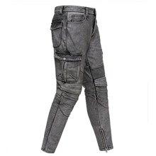 Винтажные серые мужские мотоциклетные кожаные брюки американского стиля размера плюс XXXXL из натуральной толстой воловьей кожи зимние байкерские штаны
