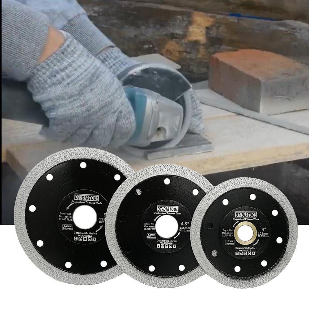 DT-DIATOOL 1pcs Dia 105/115/125MM Premium Diamond Cutting Disc X Mesh Turbo Saw Blades Dia 4