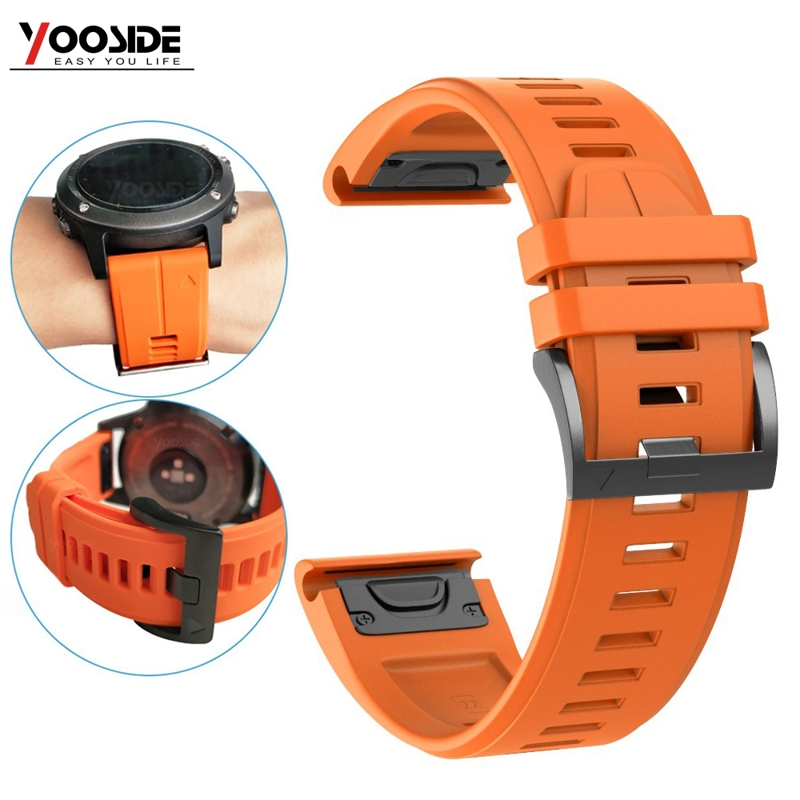 Fenix 6 Wristband 22mm QuickFit Sport Silicone Watch Band Strap For Garmin Instinct/Fenix 5/Fenix 5 Plus/Forerunner 935/Quatix 5