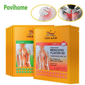 Tajlandia Tiger Balm Capsicum i fajne plaster medyczny umięśnione ciało wspólne zapalenie stawów ulga w bólu łatka ziołowy plaster medyczny C1684 tanie i dobre opinie Povihome C1684-C1685 Herbal Medical Plaster Capsicum plaster