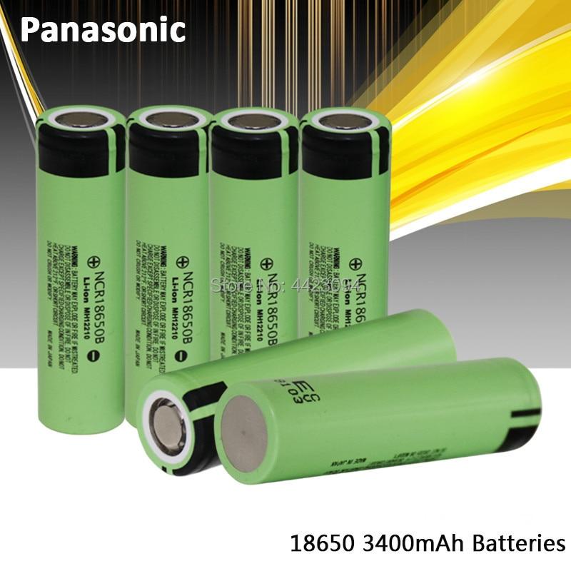 100% New Panasonic Original NCR18650B 3.7 V 3400 Mah 18650 Lithium Rechargeable Battery Flashlight Batteries