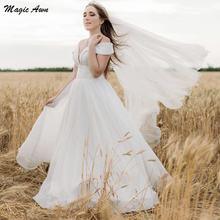 Женское свадебное платье с открытыми плечами magic awn богемное