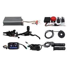 48V 60V 72V 100A 3000-5000W Regeneratieve Programmeerbare Controller Ebike DIY Kit Met Alarmsysteem + 750C Display + PAS + Remmen