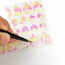 Flame Nail Stickers 12Pcs Holograpic Mermaid Star  Nail Hollow Sticker Salon 3D Nail Art Vinyls Adhesive Stencil Stickers стоимость
