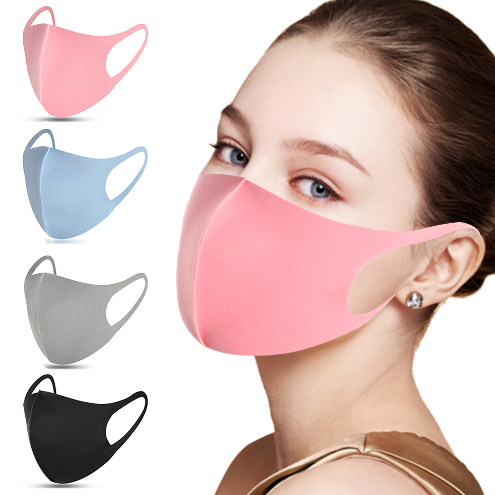 10/3/1pcs Mask Washable Earloop Face Mask Sponge Black Breathable Dust Mouth Masks Anti Pollution Wind Proof Mouth Cover PM2.5