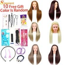 Estilo de cabeça para pente cabelo profissional 100% para bonecas peruca com tripé boneca peluqueria penteados tress e maquiagem carrinho