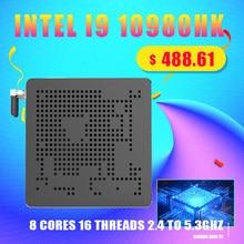 Venta superior 10th Gen Nuc Intel i9 10980HK 10880H i7 10750H Mini PC 2 LAN Win10 2 * DDR4 2 * NVME Escritorio de juegos computadora 4K DP HDMI2.0