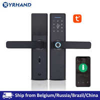 Tuya Biometric Fingerprint Lock, Security Intelligent Smart Lock With WiFi APP Password RFID Unlock,Door Lock Electronic Hotels