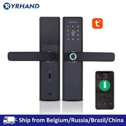 Tuya Biometrische Fingerprint Lock, Sicherheit Intelligente Smart Lock Mit WiFi APP Passwort RFID Entsperren, Türschloss Elektronische Hotels