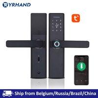 Tuya Biometrische Fingerprint Lock  Sicherheit Intelligente Smart Lock Mit WiFi APP Passwort RFID Entsperren  Türschloss Elektronische Hotels-in Elektroschloss aus Sicherheit und Schutz bei