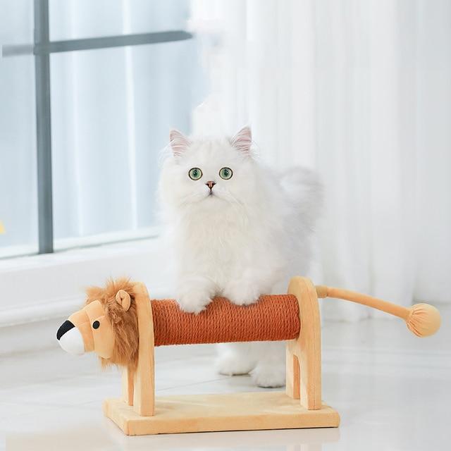HOOPET Cat Toy Climbing Furniture Cat Scratching Wood Cute Elephant Lion Shape Interactive Toys Kitten Climbing Frame 4
