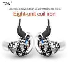 TRN V10 2DD + 2BA гибридные наушники в ухо HIFI DJ монитор для бега спортивные наушники гарнитура V20 V80 V30 AS10 N1 T2 VX V90 BA8