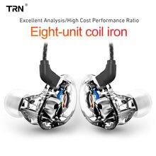 Trn v10 2dd + 2ba híbrido no ouvido fone de alta fidelidade dj monitor correndo esporte fone de ouvido earplug v20 v80 v30 as10 n1 t2 vx v90 ba8