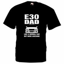 Летняя новая крутая футболка немецкая машина Е30 забавная футболка юморная вдохновленная футболка подарок папа Новые мужские футболки хлопок Футболка