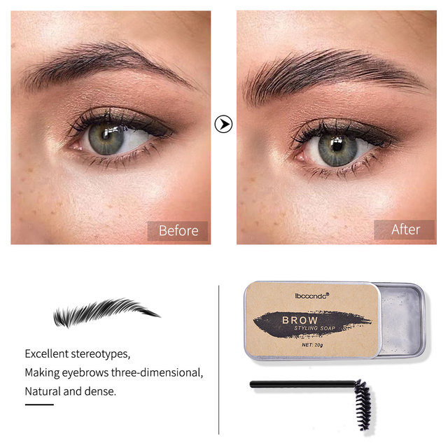 3D Feathery Brow Styling Soap Lamination Setting Gel Waterproof Long Lasting Brows Tint Eyebrow Gel Pomade Kit Makeup Cosmetic 2