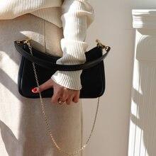 Vintage ketten frauen schulter taschen designer baguettes handtaschen luxus einfach messeger umhängetasche dame kleine geldbörsen weibliche sac