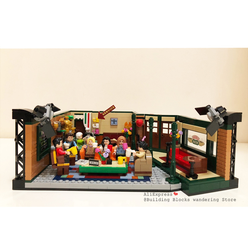 New Classic 1228pcs Tv American Drama Friends Central Perk Cafe Fit Legoinglys Friends Model Building Block Bricks 21319