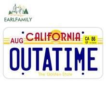 EARLFAMILY – autocollants de voiture, 13cm x 7.1cm, pour la californie passeport Outatime, dessin animé, planche de surf, ordinateur portable, réfrigérateur