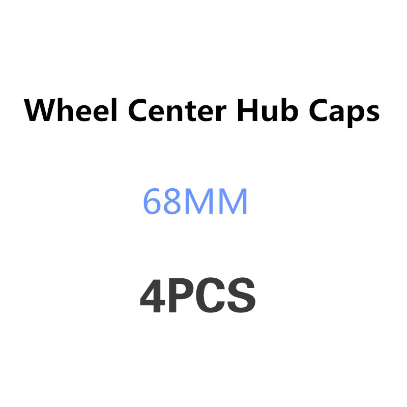 4pcs 68mm Car Wheel Center Hub Cap Emblem Logo For BMW X3 X6 E34 F10 F20 E92 E87 E46 E39 E30 E90 E60 E36 F30 E91 X5 E70 E53 G30 image