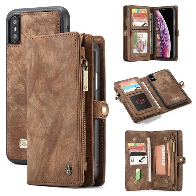 Custodia in pelle Vintage per iPhone 12 11 Pro Max X XR 6 6s 8 7 Plus custodia a portafoglio magnetica per iPhone SE 2020 XS Max Flip Case