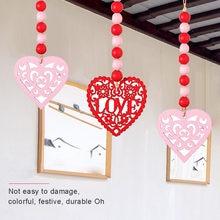 Деревянные бусины украшенные на День святого Валентина в форме