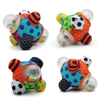 Baby Education Color Beads Little Loud Bell Ball Rattles Toy Develop Baby Intelligence Grasping Toy Infant Hand Bell Rattle Toys boys girls baby activity toy fun little loud ball toy rattles develop baby intelligence grasping toy molar hand bell rattle